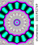 psychedelic neon glitch mandala ... | Shutterstock . vector #1031952769