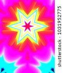 psychedelic neon glitch mandala ... | Shutterstock . vector #1031952775