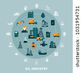 oil industry composition with... | Shutterstock . vector #1031954731