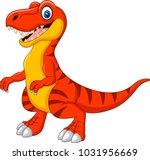 cartoon tyrannosaurus isolated... | Shutterstock .eps vector #1031956669