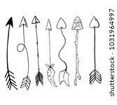 set of black hand drawn arrows. | Shutterstock .eps vector #1031964997