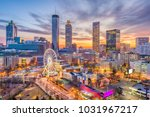 atlanta  georgia  usa downtown... | Shutterstock . vector #1031967217