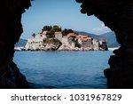 adriatic sea. a view through an ...   Shutterstock . vector #1031967829