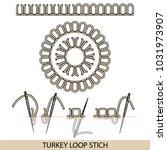 stitches blanket stich type... | Shutterstock .eps vector #1031973907
