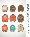 vintage label style with nine... | Shutterstock .eps vector #103198001