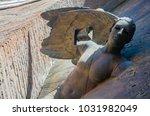 rome  january 2018   bronze... | Shutterstock . vector #1031982049
