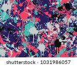 seamless splatter paint pattern | Shutterstock .eps vector #1031986057