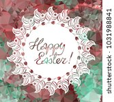 mosaic holiday label with...   Shutterstock .eps vector #1031988841