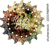 mosaic holiday label with...   Shutterstock .eps vector #1031988949