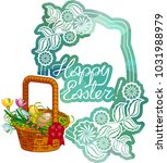 mosaic holiday label with...   Shutterstock .eps vector #1031988979