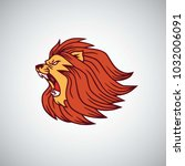 wild lion angry roaring head...   Shutterstock .eps vector #1032006091