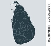 sri lanka map on gray... | Shutterstock .eps vector #1032010984