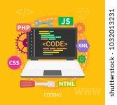 coding design conceptual   Shutterstock .eps vector #1032013231