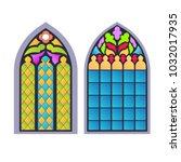 gothic windows. vintage frames. ...   Shutterstock .eps vector #1032017935