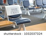 empty seats at gate priority... | Shutterstock . vector #1032037324