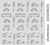 cartoon of cute cars pattern | Shutterstock .eps vector #1032038251