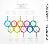 infographic design elements for ... | Shutterstock .eps vector #1032054547