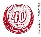 40 years anniversary.... | Shutterstock .eps vector #1032061501