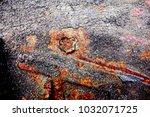 metal background of natural...   Shutterstock . vector #1032071725