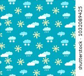 a seamless pattern with images ... | Shutterstock .eps vector #1032089425