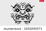 thai giant monster vector eps10.... | Shutterstock .eps vector #1032090571