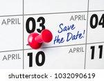 wall calendar with a red pin  ...   Shutterstock . vector #1032090619