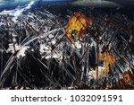 metal background of natural...   Shutterstock . vector #1032091591