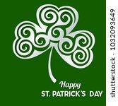 st patrick's day vector... | Shutterstock .eps vector #1032093649