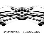 grunge black ink paint.isolated ... | Shutterstock . vector #1032096307