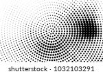 abstract monochrome halftone... | Shutterstock .eps vector #1032103291