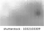 abstract monochrome halftone... | Shutterstock .eps vector #1032103309