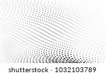 abstract monochrome halftone... | Shutterstock .eps vector #1032103789