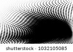 abstract monochrome halftone... | Shutterstock .eps vector #1032105085