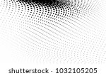 abstract monochrome halftone... | Shutterstock .eps vector #1032105205