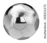 Metal Soccer Ball Isolated On...