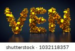 3d rendering  crypto currency... | Shutterstock . vector #1032118357