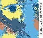 splash brush strokes watercolor ... | Shutterstock .eps vector #1032121954