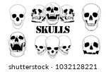 assortment of vector skulls | Shutterstock .eps vector #1032128221