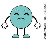 line color disappointed emoji... | Shutterstock .eps vector #1032130051