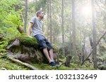 mid adult caucasian man... | Shutterstock . vector #1032132649