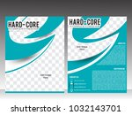 body fitness or gym flyer or...   Shutterstock .eps vector #1032143701
