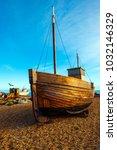 hastings  east sussex  england  ... | Shutterstock . vector #1032146329