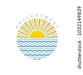 sunrise sunshine theme sign...   Shutterstock .eps vector #1032149839