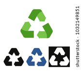 recycle icon vector | Shutterstock .eps vector #1032149851