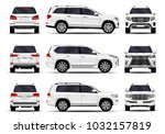 realistic suv cars set. front... | Shutterstock .eps vector #1032157819