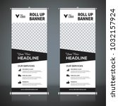 roll up banner design template  ... | Shutterstock .eps vector #1032157924