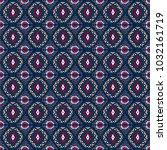 ikat geometric folklore... | Shutterstock .eps vector #1032161719