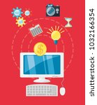 business and strategy design | Shutterstock .eps vector #1032166354