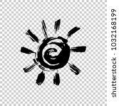 painted sun icon. grunge design ... | Shutterstock .eps vector #1032168199