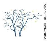 trunks of bare trees. graphic... | Shutterstock .eps vector #1032179929